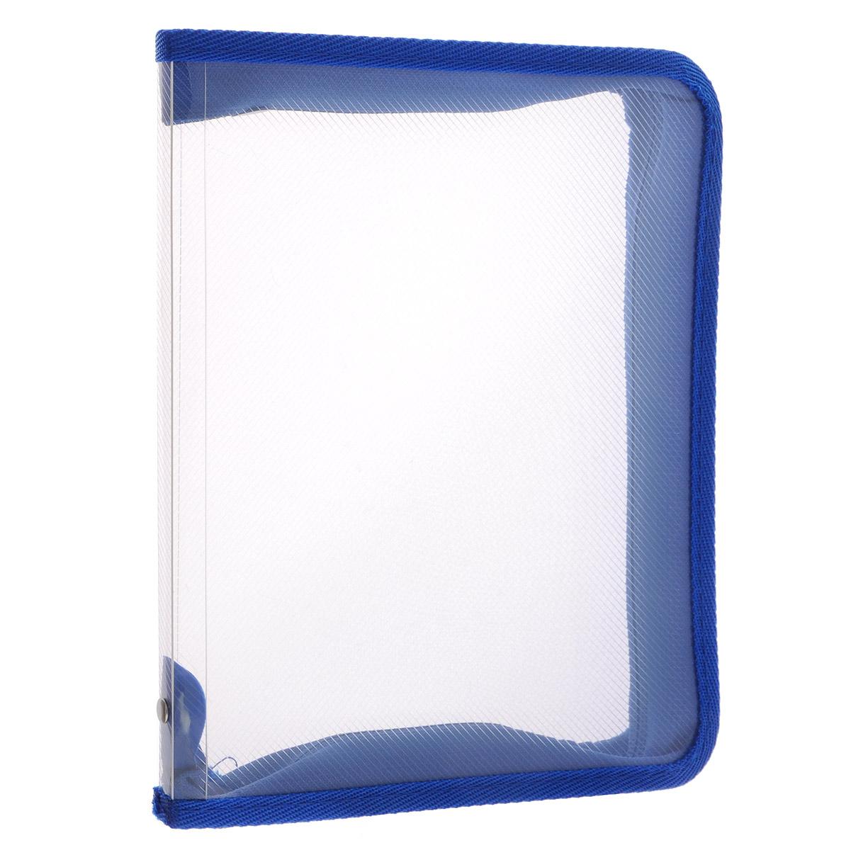 Папка Erich Krause, на молнии, цвет: синий, прозрачный. Формат А450120Папка Erich Krause - это удобный и функциональный офисный инструмент, предназначенный для хранения и транспортировки рабочих бумаг и документов формата А4, а также тетрадей и канцелярских принадлежностей. В папке одно вместительное отделение. Папка изготовлена из прочного высококачественного пластика, закрывается на круговую застежку-молнию. Папка состоит из одного отделения. Папка оформлена оригинальным принтом в виде мелкой клетки. Папка имеет опрятный и неброский вид. Края папки отделаны полиэстером, а уголки имеют закругленную форму, что предотвращает их загибание и помогает надолго сохранить опрятный вид обложки. Папка - это незаменимый атрибут для любого студента, школьника или офисного работника. Такая папка надежно сохранит ваши бумаги и сбережет их от повреждений, пыли и влаги. Надежная застежка-молния вокруг папки обеспечивает максимальный комфорт в использовании изделия, позволяя быстро открыть и закрыть папку.