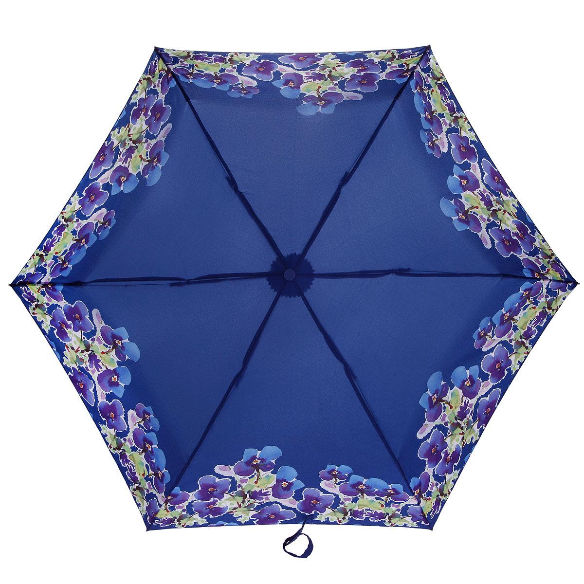 Зонт женский Fulton Superslim-2 Round. Watercolour Fusion, механический, 3 сложения, цвет: синий, зеленый. L354-2822L553-2822Модный механический зонт Superslim-2 Round. Watercolour Fusion даже в ненастную погоду позволит вам оставаться стильной и элегантной. Каркас зонта состоит из 6 спиц из фибергласса и металлического стержня. Купол зонта выполнен из прочного полиэстера и оформлен узором в виде акварели цветов. Изделие оснащено удобной рукояткой из пластика. Зонт механического сложения: купол открывается и закрывается вручную до характерного щелчка. Модель закрывается при помощи одного ремня с липучкой. К зонту прилагается чехол на липучке. Такой зонт не только надежно защитит вас от дождя, но и станет стильным аксессуаром, который идеально подчеркнет ваш неповторимый образ.