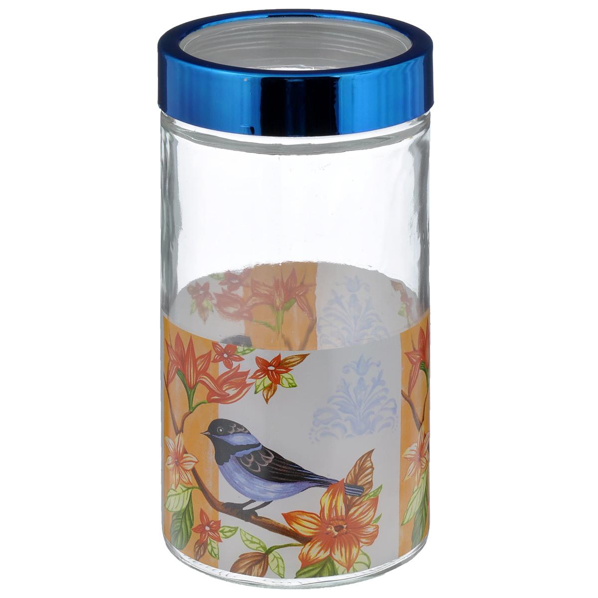 Банка для сыпучих продуктов House & Holder Птица, цвет: синий, 1,6 лS203414-2F103Банка для сыпучих продуктов House & Holder Птица изготовлена из прочного стекла и оснащена плотно закрывающейся крышкой. Благодаря этому, внутри сохраняется герметичность, и продукты дольше остаются свежими. Изделие предназначено для хранения различных сыпучих продуктов: круп, чая, сахара, орехов, специй и другого. Функциональная и вместительная, такая банка станет незаменимым аксессуаром на любой кухне. Диаметр: 11,5 см. Высота: 22,5 см.