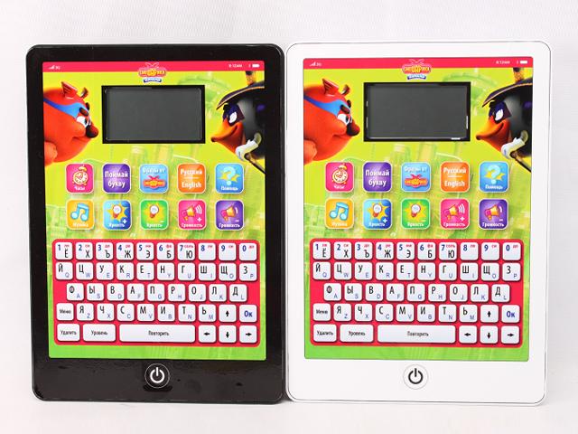 Компьютер Планшет Смешарики, 120 функций, русско-английскийGT5733Ваш ребенок любит играть с вашим планшетом или хочет личный компьютер, а так же обожает мультик по Смешариков, тогда эта высокотехнологичная игрушка из очень качественной пластмассы с ЛСД монитором создана для вас, так как она в себе сочетает очень много развивающих и развлекательных функций (Буквы, цифры, слова, мелодии, часы, игры и многое др., а так же все функции доступны не только на русском, но и на английском.)