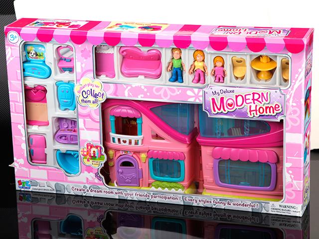 Дом с мебелью, 15 предметов, со звуком и светом16690Девочки любят играть в куклы, поэтому их куклам обязательно нужен большой красивый дом. В представленном варианте дети смогут найти подходящую мебель, также он имеет подсветку и музыкальные эффекты, а значит играть с ним интересно и увлекательно!