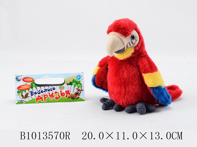 Попугай1013570RВеселая птичка развлечет вашего ребенка и подарит много положительных эмоций. Стоит только произнести любую фразу рядом с детским попугаем как он тут же повторит ее своим тоненьким и забавным голоском и захлопает своими красочными крылышками. Такая игрушка помогает развивать речевые навыки.Работает от трех батареек типа ААА (не идут в комплекте)