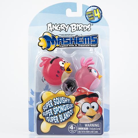 Птичка-мялка Angry Birds, 2 шт50281-0000012-04Птички-мялки в стиле Angry Birds.Птичек можно как угодно мять, они потом возвращаются в свою прежнюю форму.Сделаны из приятного на ощупь материала.Внутри игрушки есть жидкий наполнитель.