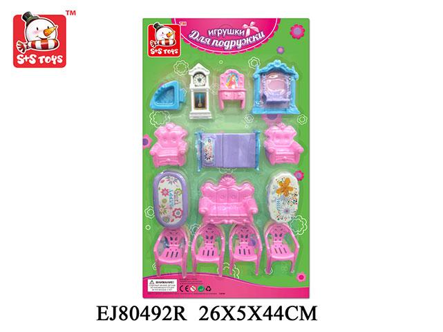 Набор мебели72657Мебель S+S Toys EJ80492R привлечет внимание вашей малышки и не позволит ей скучать. В набор входят все необходимые аксессуары и элементы интерьера.