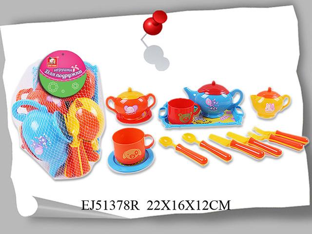 Набор посуды Игрушки для подружки6451Набор посуды Игрушки для подружки S+S Toys EJ51378R обязательно понравится и будет полезен маленькой хозяйке. С его помощью малышка сможет накрыть стол и угостить своих гостей. Предметы изготовлен из качественного, безопасного для ребенка пластика.