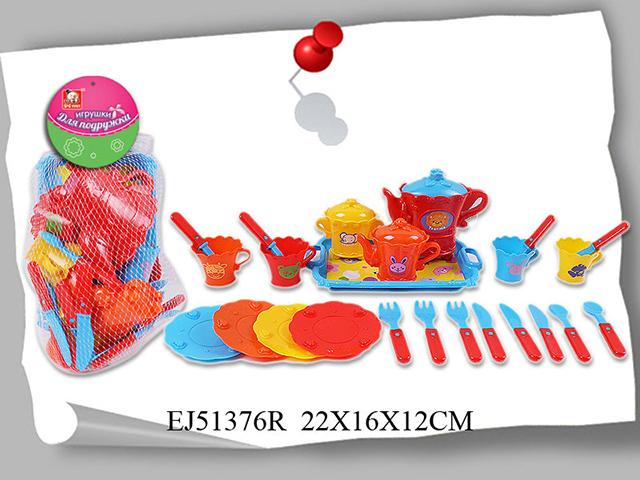 Набор посуды Игрушки для подружки6448Набор посуды Игрушки для подружки S+S Toys EJ51376R обязательно понравится и будет полезен маленькой хозяйке. С его помощью малышка сможет накрыть стол и угостить своих гостей. Предметы изготовлены из качественного, безопасного для ребенка пластика.
