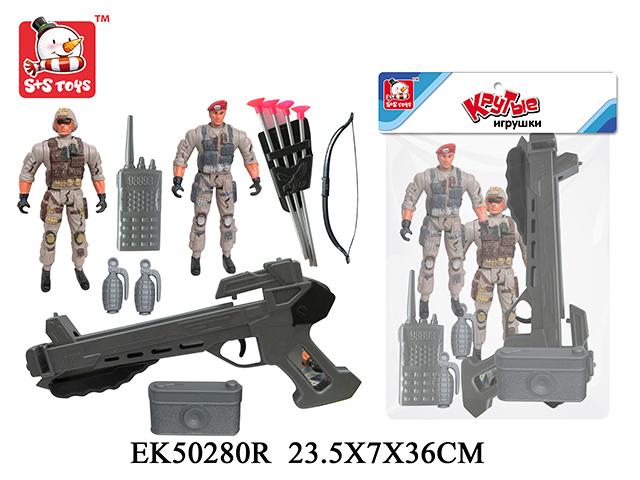 Армия S+S Toys1708-9Набор Армия S+S Toys EK61481R позволит ребенку весело провести время и создать множество игровых ситуаций. В комплекте, кроме фигурок солдатов, можно найти множество аксессуаров, которые понадобятся любому военному. Все элементы набора проработаны до мельчайших деталей и сделаны из нетоксичного пластика. Игрушка Армия S+S Toys EK61481R способствует развитию воображения, фантазии и отлично подходит для разнообразных ролевых игр.