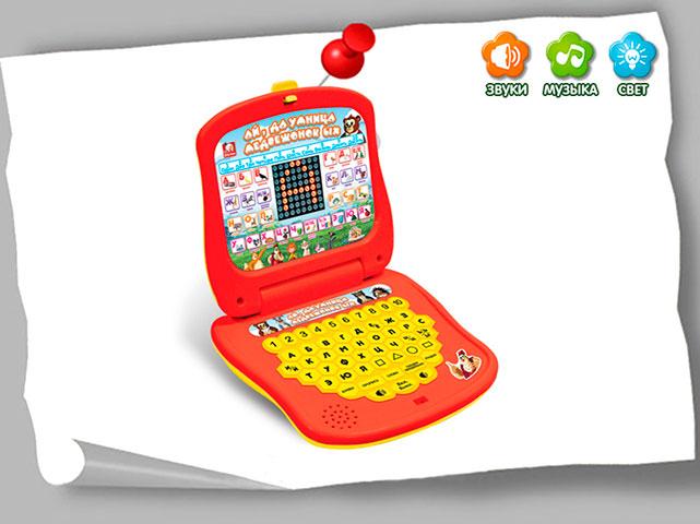 Компьютер обучающий Ай, да умница медвежонок Ых, со светом и звукомEH80131RS+S Toys EH80131R - это детский компьютер, который поможет расширить кругозор ребенка и познакомит его с множеством интересной информации. Малыш сможет изучить буквы, цифры и геометрически фигуры, а также прослушать разные мелодии. Данная модель изготовлена из прочных, качественных материалов и прослужит очень долго.