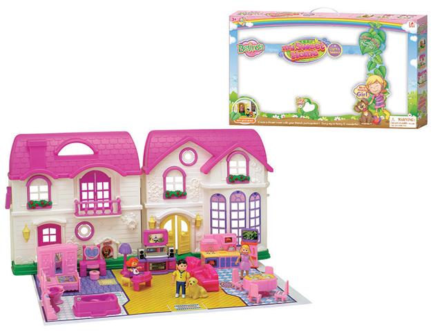 Дом с мебелью, 24 предмета, со светом и звуком16567CДевочки любят играть в куклы, поэтому их куклам обязательно нужен большой красивый дом. В представленном варианте дети смогут найти подходящую мебель, также он имеет подсветку и музыкальные эффекты, а значит играть с ним интересно и увлекательно!