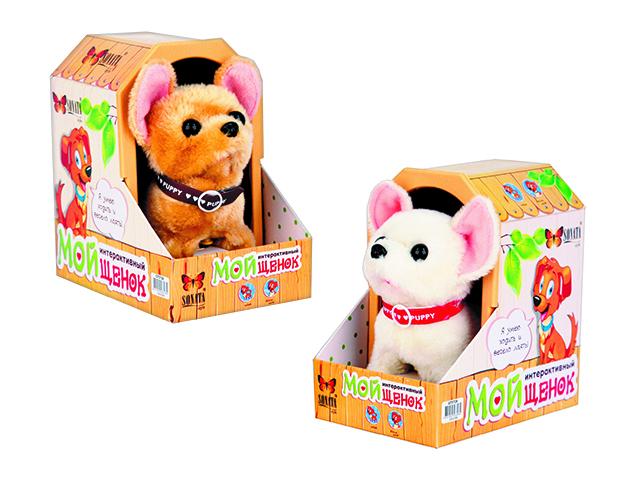 Sonata Style Собака интерактивная Чихуахуа цвет белый9307-7RB,9307-7RW,GT5728Собачка Чихуахуа может похвастаться приятной на ощупь мягкой, нежной, как бархат шерсткой светлого тона. Веселая миленькая мордочка, яркие пластмассовые глазки – визуально в точности напоминают живую карманную собачку породы Чихуахуа. Движения зверюшки забавны и никого из домашних не оставят равнодушными