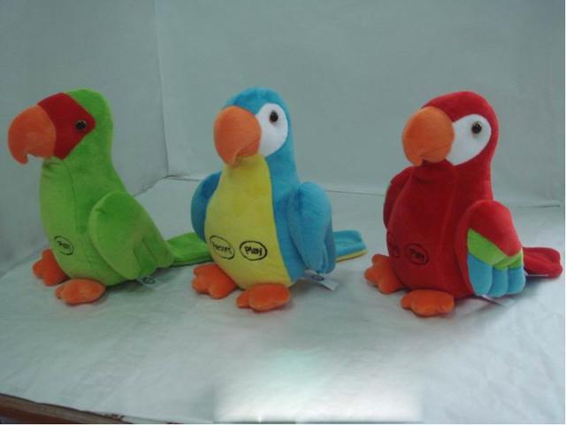Попугай с функцией записи, 23 смM1208523AЗабавный попугай - интерактивная мягкая игрушка с функцией записи голоса. Если сказать фразу, попугай ее запомнит и воспроизведет.А еще эта замечательная игрушка обязательно поднимет грустное настроение всей семье.
