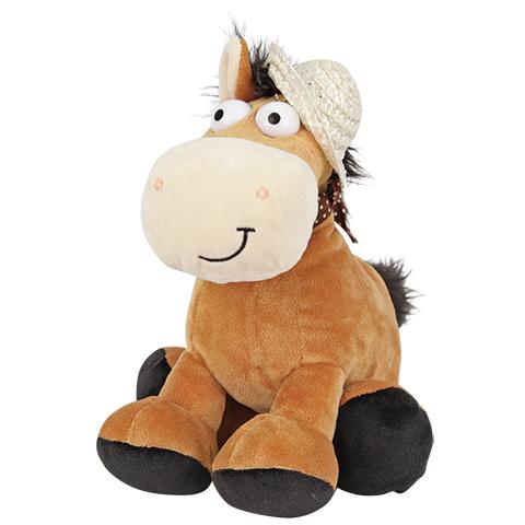 Plush Apple Мягкая озвученная игрушка Лошадка в шляпке, 20 смK34014APlush Apple Лошадка в шляпке - это забавная игрушка со звуком, которая создана для детей старше 3 лет. Она изготовлена из качественных материалов, которые абсолютно безвредны для ребенка. Плюшевая лошадка обязательно понравится вашему малышу. Игрушка способствует развитию воображения и тактильной чувствительности у детей.