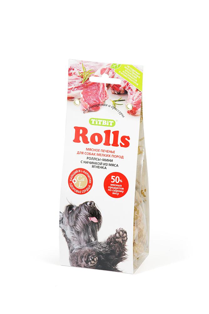 Лакомство для собак Titbit Rolls, печенье с начинкой из мяса ягненка, 100 г2254Мясо ягненка – это источник гипоаллергенного, высококачественного протеина животного происхождения, который легко усваивается и необходим при заживлении ран и переломах костей. Аромат баранины очень нравится собакам, поэтому лакомство удобно применять для дрессуры. Вещества, такие как цинк, витамин В12 и железо (2,6 мг/100г), благотворно влияют на умственную деятельность животного. В мясе ягненка содержатся так же витамин РР(5,4 мг/100г), который участвует в усвоении белков, жиров и углеводов, поступающих извне. Состав: мука 55%, мясо ягненка 14%, злаки 11%, зародыш пшеницы 9%, масло растительное 7%, патока 3%, сухое молоко 1%.