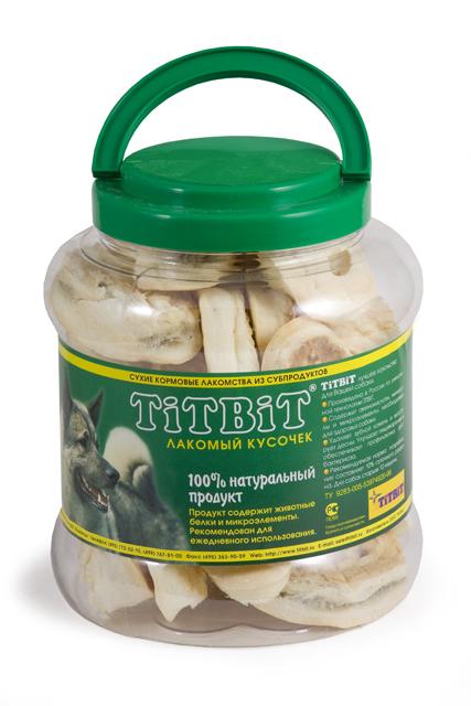 Лакомство для собак Titbit, пятачок диетический из говяжьей кожи, 4,3 л319465Лакомство для собак Titbit, выполненное в виде пятачков из говяжьей кожи, - полностью натуральный продукт для вашего питомца, разработанный по уникальной технологии Titbit щадящим способом сушки, позволяющим сохранить все полезные и естественные вкусовые качества. Лакомство чистит зубы, массирует десны. Благодаря большому содержанию аминокислот и коллагена положительно воздействует на хрящевую ткань, состояние кожи и шерсти собаки. За счет волокнистой структуры являются своеобразной зубной щеткой, способствующей укреплению десен, удалению зубного налета и профилактике образования зубного камня. Не содержит консервантов, искусственных красителей и ароматизаторов. Состав: высушенная говяжья кожа. Рекомендуемая норма потребления составляет 10% от суточного рациона собак старше 12 недель. Необходимо обеспечить собаке постоянный доступ к питьевой воде. Товар сертифицирован.