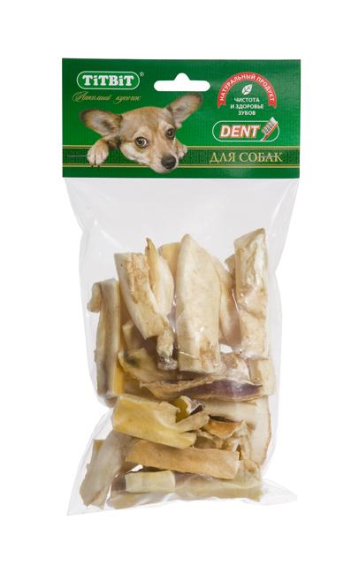 Лакомство для собак Titbit, мини соломка из говяжьей кожи319564Высушенная нарезанная соломкой говяжья кожа. Благодаря большому содержанию аминокислот и коллагена положительно воздействует на хрящевую ткань, состояние кожи и шерсти собаки. Благодаря волокнистой структуре являются своеобразной зубной щёткой, способствующей укреплению дёсен, удалению зубного налёта и профилактике образования зубного камня. Состав: Высушенная говяжья кожа.