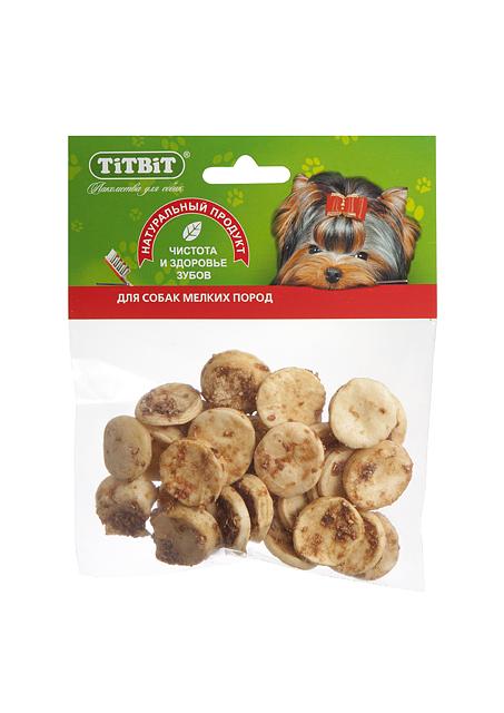 Лакомство для собак Titbit, медальоны из говяжьей кожи319892Высушенная в форме медальонов говяжья кожа в обсыпке из молотых говяжьих кишок. Благодаря большому содержанию аминокислот и коллагена положительно воздействует на хрящевую ткань, состояние кожи и шерсти собаки. Благодаря волокнистой структуре являются своеобразной зубной щёткой, способствующей укреплению дёсен, удалению зубного налёта и профилактике образования зубного камня. Состав: Высушенная говяжья кожа.