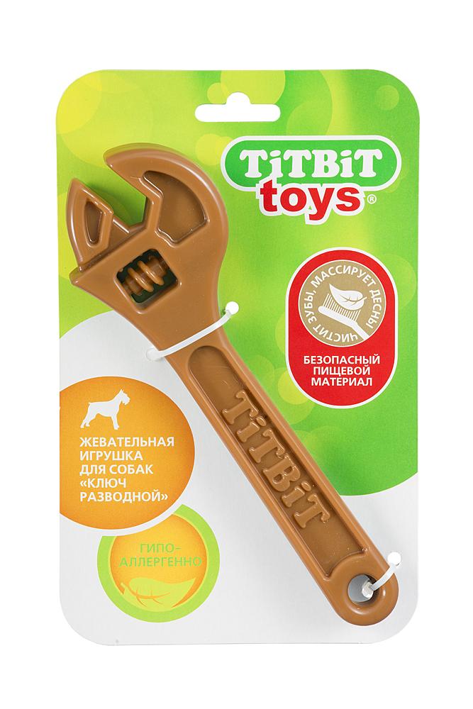 Лакомство для собак Titbit Ключ разводной, игрушка жевательная, коричневый3213Ключ разводной изготавливается из безопасного гипоаллергенного материала, используемого в детской промышленности, что свидетельствует об абсолютной его безопасности. При случайном проглатывании кусочки выводятся, не причиняя вреда организму. Форма и размер игрушки адаптированы для челюстей собак разных возрастов мелких и средних пород. Игрушка имеет разную текстуру поверхности, максимально способствующую массажному и очищающему эффекту зубов. Вкус: Состав: роттолин (rottolin) Условия хранения: сухое место. Товар сертифицирован.