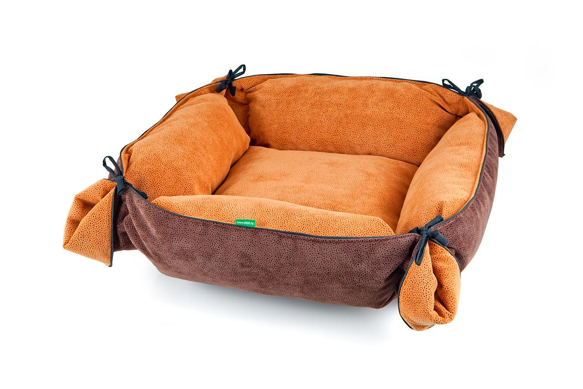 Лежак-трансформер для собак Titbit, цвет: коричневый, 100 см х 100 см3541Лежак-трансформер Пушок станет комфортным и любимым местом вашего питомца. Лежак выполнен из мягкого, приятного на ощупь материала (флока). Оригинальная конструкция трансформера превращает лежак в просторное спальное место. Стильная расцветка впишется в любой интерьер. Высококачественная мебельная ткань приятной фактуры обладает высокой износоустойчивостью.