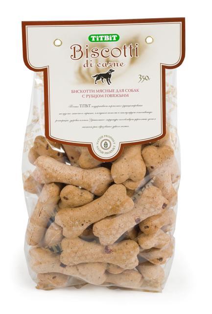Печенье для собак Titbit Biscotti, с говяжьим рубцом, 350 г3708Говяжий рубец - ценнейший источник легкоусвояемого белка и полезных ферментов, необходимых для полноценного питания животного. Рубец говяжий способствует улучшению пищеварения и устранению дисбактериоза. Состав: Мука в/с грубого помола 41%, мука из цельной пшеницы 19%, пшеничный зародыш 13%, диетический говяжий рубец 10%, постное мясо говядины 6%, растительное масло 5%, патока 5%, молотый имбирь 1%.