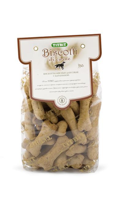 Печенье для собак Titbit Biscotti, с бараниной3715Баранина содержит соли калия, натрия, магния, железа, цинка, йод, а также витамины груполипропиленовый пакеты B, PP. Баранина отличается хорошими вкусовыми качествами, не вызывает пищевой аллергии, богата полезными минералами и содержит лецитин, обладающий антисклеротической активностью. Состав: Мука в/с грубого помола – 57%, пшеничный зародыш 16%, растительное масло 9%, мясо ягненка 9%, диетический рубец 6%, мед 3%.