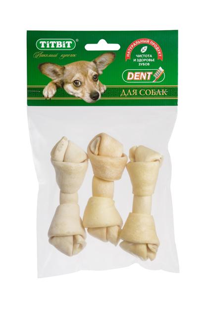 """Лакомство для собак мелких пород """"Titbit"""", кость из говяжьей кожи, 3 шт 4460"""