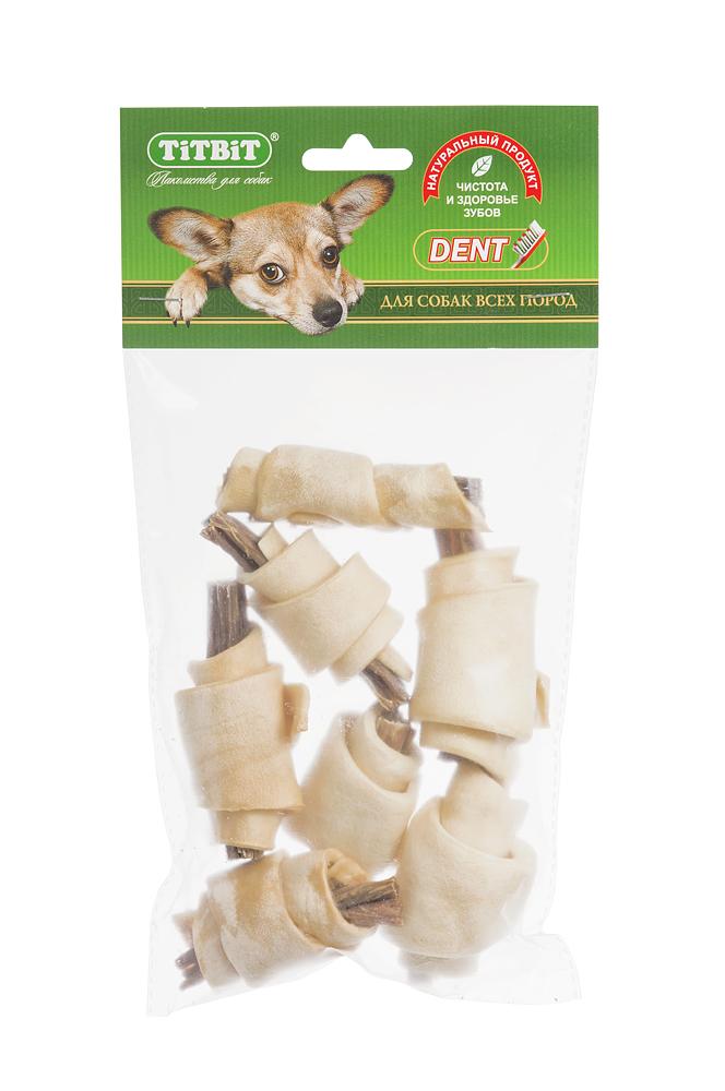 Лакомство для собак Titbit, рогалики из кожи с начинкой из говяжьих кишок, 7 шт5026Лакомство для собак Titbit - высушенная говяжья кожа с начинкой из говяжьих кишок. Благодаря большому содержанию аминокислот и коллагена положительно воздействует на хрящевую ткань, состояние кожи и шерсти собаки. Кишки возбуждают аппетит и придают лакомству особый вкус, который так нравится собаке. Состав: высушенные говяжья кожа, кишки говяжьи. Товар сертифицирован.