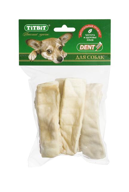Лакомство для собак Titbit, крекер говяжий, 90 г5158Лакомство для собак Titbit выполнено из высушенной говяжьей кожи, свернутой в форме крекеров. Благодаря большому содержанию аминокислот и коллагена положительно воздействует на хрящевую ткань, состояние кожи и шерсти собаки. Благодаря волокнистой структуре являются своеобразной зубной щеткой, способствующей укреплению десен, удалению зубного налета и профилактике образования зубного камня. Прекрасное лакомство для всех собак с 1,5-2 месячного возраста. Состав: высушенная говяжья кожа Товар сертифицирован.