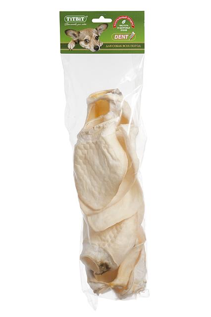 Лакомство для собак Titbit, телячье ухо, Big8418Лакомство для собак Titbit, выполненное из высушенных телячьих ушей, - полностью натуральный продукт для вашего питомца. Высокое содержание коллагеновых и эластиновых волокон обеспечивает поступление в организм незаменимых компонентов для роста и поддержания качества хрящевой ткани суставов вашего питомца. Высокое содержание коллагена и эластина способствует улучшению формирования ушного хряща для пород собак, стандартом которых предусмотрен вертикальный постав ушной раковины. Вкус: телятина Состав: Высушенное ухо телячье. Условия хранения: хранить в сухом прохладном месте