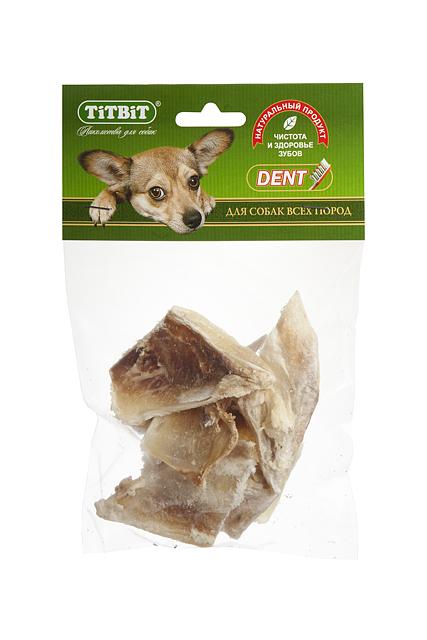 Лакомство для собак Titbit, хрящ лопаточный говяжий, 65 г8956Лакомство для собак Titbitпредставляет собой отрезки высушенного говяжьего лопаточного хряща. Говяжий хрящ - источник необходимых для роста и развития суставно-связочного аппарата компонентов. Лакомство оказывает положительное воздействие на хрящевую и костную ткань. Улучшает рост и развитие опорно-двигательного аппарата. Состав: высушенный лопаточный хрящ говяжий. Товар сертифицирован.