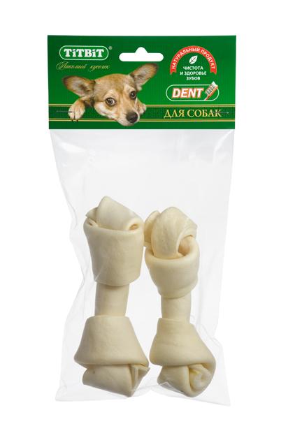 Лакомство для собакTitbit, кость узловая №4, 2 шт986Высушенная говяжья кожа, свернутая в форме кости размером 130-150 мм. В упаковке 2 штуки. Благодаря большому содержанию аминокислот и коллагена положительно воздействует на состояние кожи и шерсти собаки, а также обеспечивает поступление в организм незаменимых компонентов для роста и поддержания качества хрящевой ткани суставов собак. Способствует укреплению дёсен, удалению зубного налёта и профилактике образования зубного камня. Состав: Высушенная говяжья кожа.