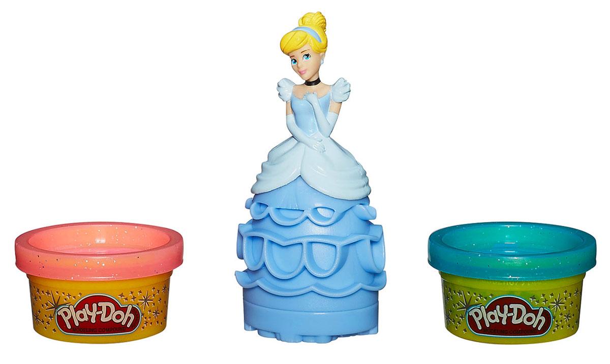 Play-Doh Игровой набор Принцесса ЗолушкаA7402/А9060Набор Play-Doh Принцесса Золушка предназначен для лепки и моделирования. Пластилин Плэй До обладает отличными пластичными свойствами, быстро размягчается, хорошо держит форму и не липнет к рукам. Он прекрасно подходит для создания даже очень мелких деталей, в чем малышке поможет прекрасный замок принцессы! С помощью пластилина можно создать неповторимое платье для Золушки, украсив его разнообразными элементами. В набор входят: фигурка Золушки и две баночки блестящего пластилина Play-Doh розового и голубого цветов. Занятия лепкой помогут вашей маленькой принцессе развить творческие способности, воображение, а также мелкую моторику рук. Яркие цвета и сказочные образы подарят ей положительные эмоции и хорошее настроение! Общая масса пластилина: 112 г.