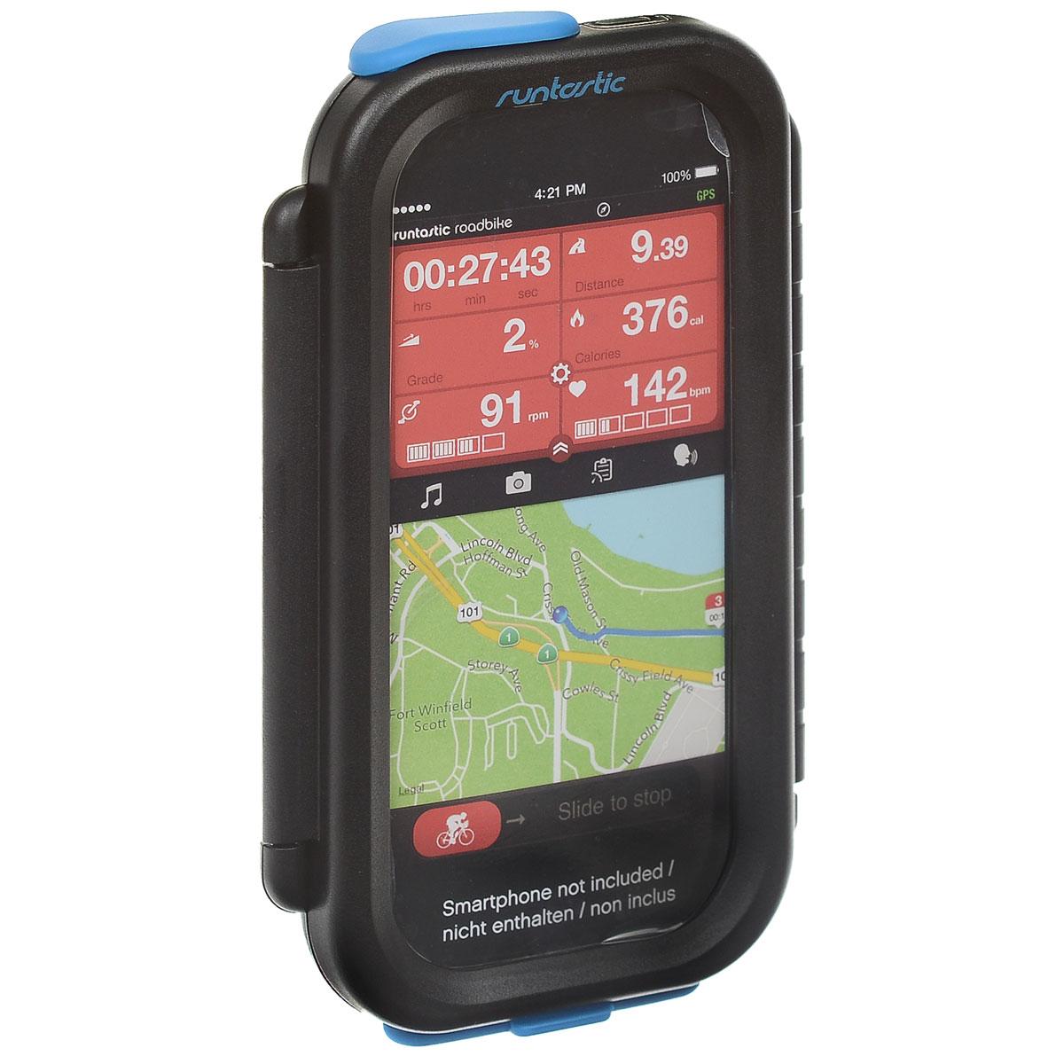 Крепление велосипедное Runtastic для iPhone, цвет: черныйRNT_RUNCAI1BВелосипедное крепление для iPhone 5/5S/5C. Особенности крепления: Ударо- и пылезащитный корпус. Возможность работать с сенсорным экраном, использовать обе камеры и наушники. Устанавливается без использования инструментов на руль или вынос велосипеда. iPhone можно установить горизонтально или вертикально на креплении.
