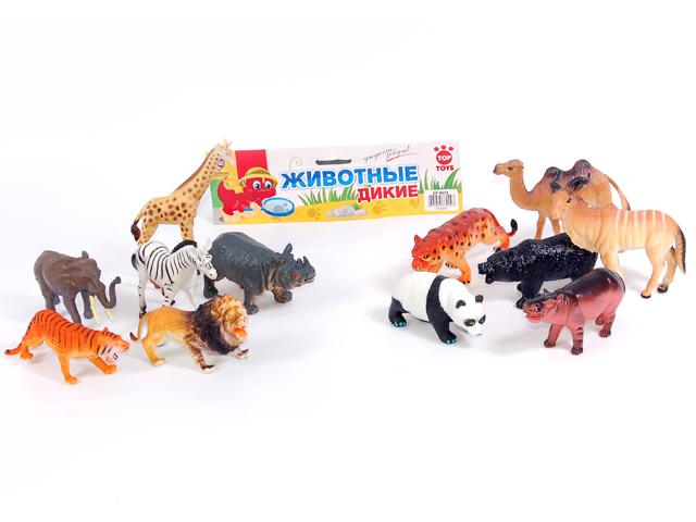 Набор Дикие Животные, 6 штGT4518,P852,6Набор «Дикие животные» от торговой марки «Top Toys» включает в себя несколько зверей – жителей африканских саванн. Они понравятся юным любителям живой природы. Изделия выполнены из высококачественных полимерных материалов и предназначены для ребят в возрасте от трех лет. Размер упаковки: 22*16*5 см, вес: 321 г, количество игрушек в наборе: 6.