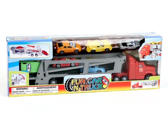 Машина Автовоз с 6 машинамиGT5368,S107,6EYМашины - это страсть большинства мальчишек с самого раннего детства. Поэтому представленный инерционный автомобиль Автовоз может стать одной из любимых игрушек на долгое время. В наборе шесть машинок. Размер: 39*14*6 см, вес: 323 г.