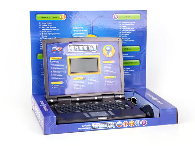 Компьютер Joy Toy обучающий, русско-английский, с мышкой и цветным дисплеемA848-H05047Обучающие и игровые возможности: 35 функций обучения, 11 интересных игр, музыкальная шкатулка. Разработан специально для дошкольной подготовки. В комплект входят: компьютер, адаптер, мышка.
