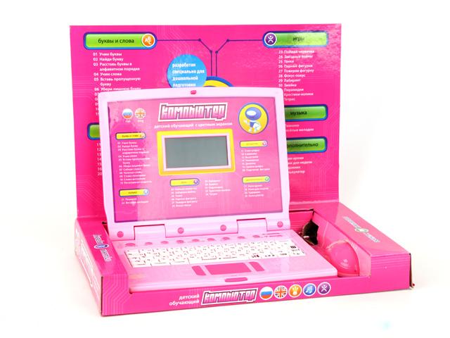 Компьютер Joy Toy обучающий, русско-английский, с мышкой и цветным дисплеемA848-H05048Обучающие и игровые возможности: 35 функций обучения, 11 интересных игр, музыкальная шкатулка. Разработан специально для дошкольной подготовки. В комплект входят: компьютер, адаптер, мышка.
