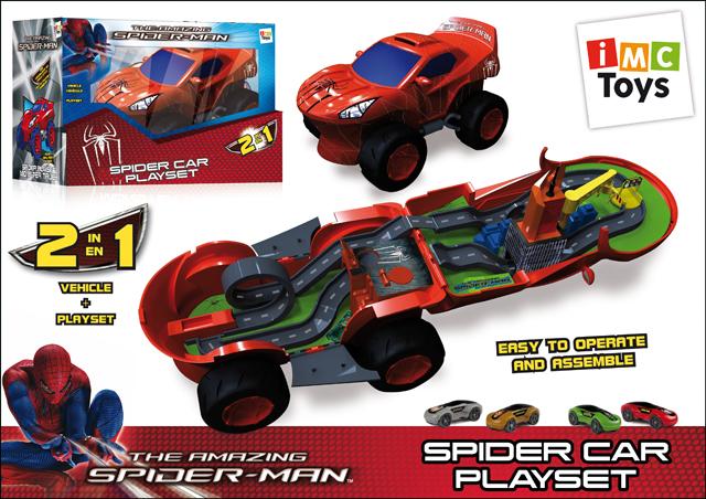 Игровой набор Машина Spider-Man550735IMC Toys - знаменитый испанский инновационный бренд, создающий необычные и интересные игрушки. Например, представленный набор Машина SPIDER-MAN от торговой марки MARVEL. С помощью деталей, входящих в комплект, ребенок сможет собрать игровую площадку и менять её. Играйте с удовольствием!
