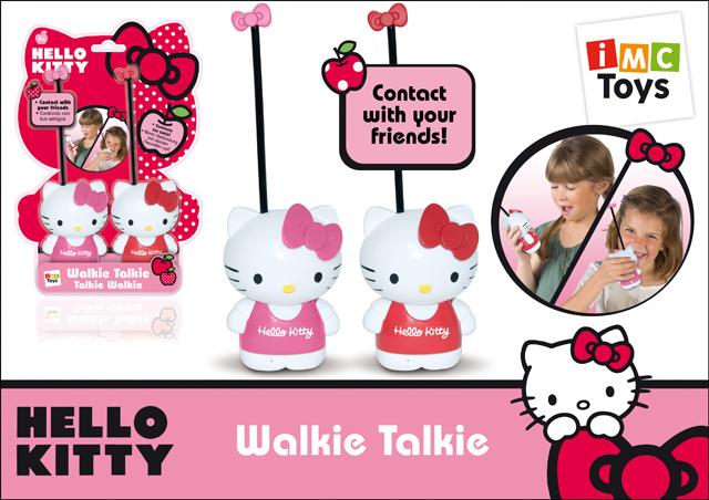 Рация Hello Kitty310650Рация для девочек Hello Kitty - яркий и необычный подарок для каждой малышки, который сделает ее игру интереснее. В наборе ваша девочка найдет 2 рации в виде знаменитых кошечек Hello Kitty. Для передачи голосового сообщения нужно нажать кнопку, для прослушивания ответа - отпустить. Говорить нужно на расстоянии примерно 8 сантиметров от микрофона. Радиус действия рации - 80 метров. Набор изготовлен из прочной высококачественной пластмассы. Упакован в подарочную коробку. В наборе: 2 рации. Для работы требуются 2 батарейки 6 LR61 (в комплект не входят).