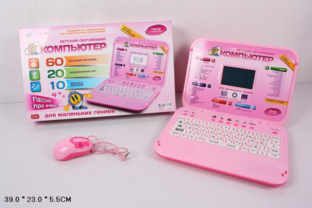 Компьютер Joy Toy обучающий, с мышьюA848-H05072/7314Joy Toy 7293 - это детский ноутбук с цветным экраном, клавиатурой и мышкой, который станет отличным подарком для вашего ребенка дошкольного возраста. В нем представлены 60 различных заданий, которые разделены условно на несколько блоков: урок математики, урок знаний, урок русского/английского языка, урок музыки и перемена (20 игр и рисование). С помощью данного компьютера ребенок выучит слова, буквы, цифры, научится читать, писать и познакомится с нотами. Интерфейс модели представлен как на русском, так и на английском языке. Игрушка работает как от сети, так и от батареек.
