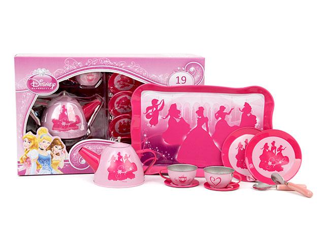 Набор посуды Чайный сервиз, 19 предметовCH1707Девочки обожают сказочных принцесс. Изображение принцесс на предметах порадует девочек. Малышки будут прыгать от радости! Чайный сервиз для чаепития , понравится маленьким поклонницам мультипликационных фильмов про принцесс . Маленькая хозяюшка сможет устроить веселое чаепитие со своими подружками. Данный набор - отличный способ научить девочку с самого малолетства быть хозяйкой в доме. Посуда для кухни сделана из металла. Рассчитана на 4 персоны. Содержит 19 предметов домашнего обихода,поможет ребенку в игровой форме освоить все дальнейшие навыки. В комплект входит чайник,4 чашки, 4 блюдца ,4 тарелочки,4 ложечки,поднос.