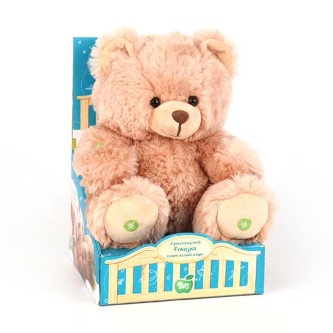 Медведь Я расскажу тебе 4 сказки и спою колыбельнуюK13037BЛюбимый мишка– это одна из самых желанных игрушек для детей. Мишка расскажет вашему ребенку сказку , если нажать ему на одну из лапок. Колобок,Репка,МАША И МЕДВЕДЬ,Петух лиса и серый волк. Убаюкает малыша колыбельной песенкой. Изготовлен из экологически чистого текстиля, наполнитель синтепон. Вызывает приятные тактильные ощущения При изготовлении используются новейшие материалы, уникальная технология, авторский дизайн и ручная проработка деталей. Соответствует российским стандартам качества. .Предназначен для детей от 3-х лет. Уход: сухая чистка. Работает от 2х батареек типа AA (входят в комплект).