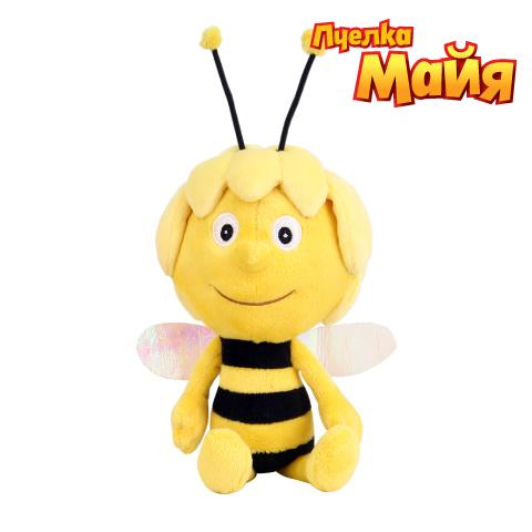 Мягкая игрушка МайяGT6449Мягкая игрушка  ПЧЕЛКА МАЙЯ выполнена очень качественно и реалистично. Понравится маленьким любителям известного мультфильма  Приключения пчелки Майи . Особенности: игрушка русифицирована очень приятная на ощупь Майя поет песенку из мультфильма и говорит 7 фраз Для работы игрушки необходимы 2 батарейки типа АА (входят в комплект). Высота игрушки 20 см.