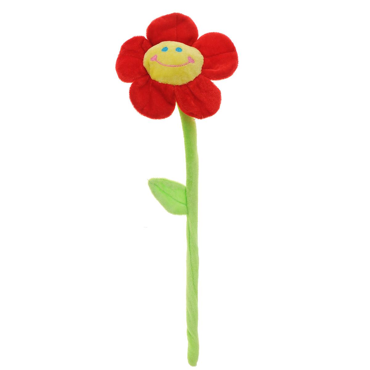 Мягкая игрушка Цветок, цвет: красный, 42,5 смKR-1262_красныйМягкая игрушка Цветок просто создан, чтобы дарить положительные эмоции! Яркий цветочек с улыбающейся мордашкой выполнен из высококачественного и приятного на ощупь материала и снабжен гибким стеблем, благодаря чему его можно закреплять, где захочется. Прекрасный подарок на любой праздник!