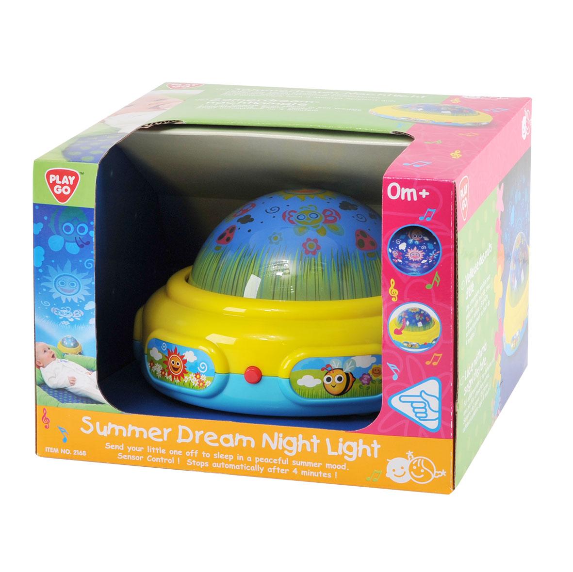 Playgo Развивающий центр Волшебный светPlay 2168Игровой развивающий центр - это уникальный сенсорный ночник-проектор, который понравится любому малышу, когда он будет отравляться в волшебную страну снов. При помощи проектора, световой луч отражается на стене в виде животных, которые появляются под спокойную мелодию. Проектор имеет три режима: - играет музыка и горит свет; - играет только музыка; - горит только свет. После 4-х минут работы, проектор автоматически отключается. Проектор работает от 3-х батареек типа LR6/ААА/1.5 V, которые предусмотрены в наборе. Размер проектора: 17 х 17 х 10,5 см.