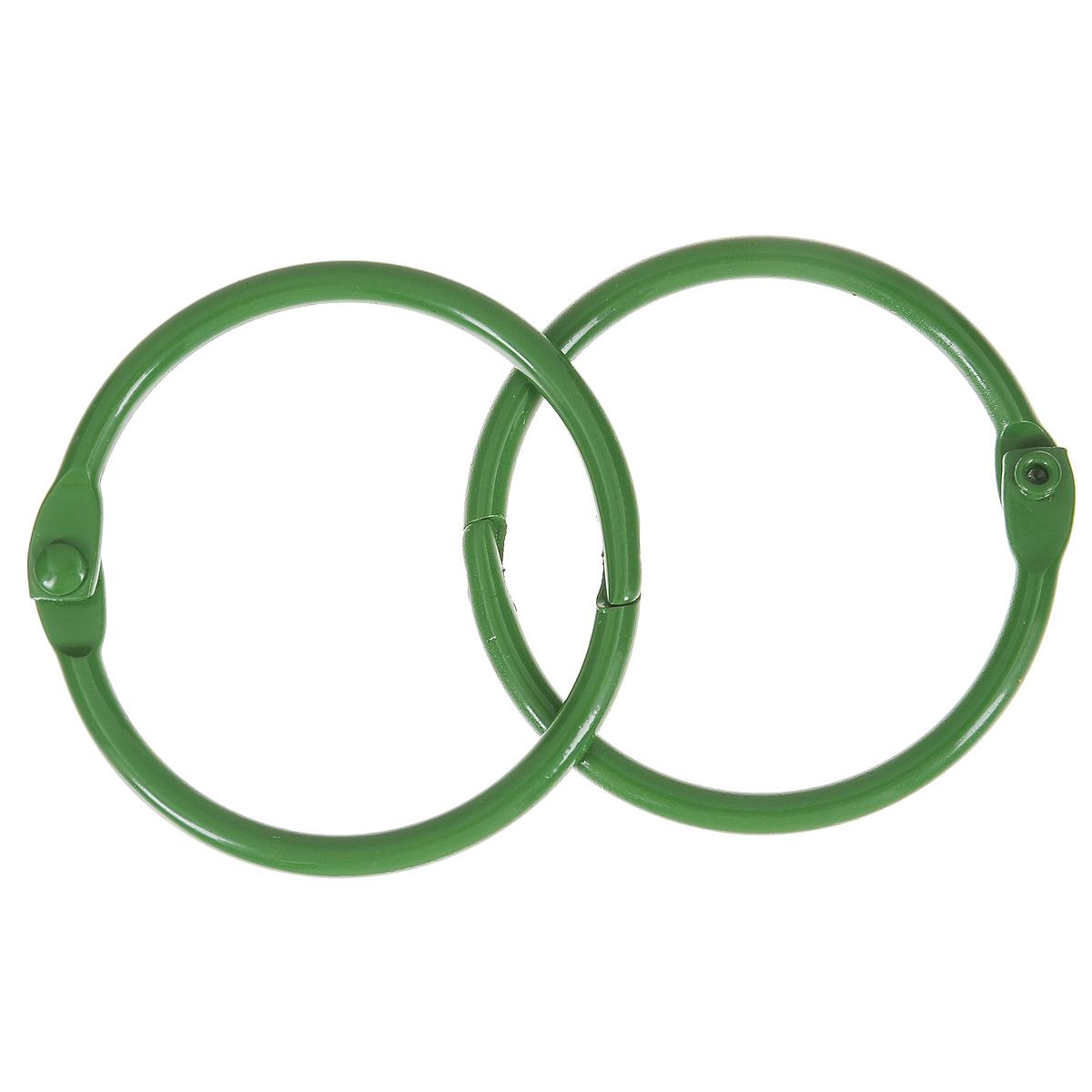 Кольца для скрап-альбома ScrapBerrys, цвет: зеленый, диаметр 40 мм, 2 штSCB2504740Кольца ScrapBerrys изготовлены из металла и предназначены для скрепления альбомов, блокнотов, скетч-буков, выполненных в технике скрапбукинг. В наборе - 2 кольца. Скрапбукинг - это хобби, которое способно приносить массу приятных эмоций не только человеку, который этим занимается, но и его близким, друзьям, родным. Это невероятно увлекательное занятие, которое поможет вам сохранить наиболее памятные и яркие моменты вашей жизни, а также интересно оформить интерьер дома. Диаметр кольца: 40 мм.