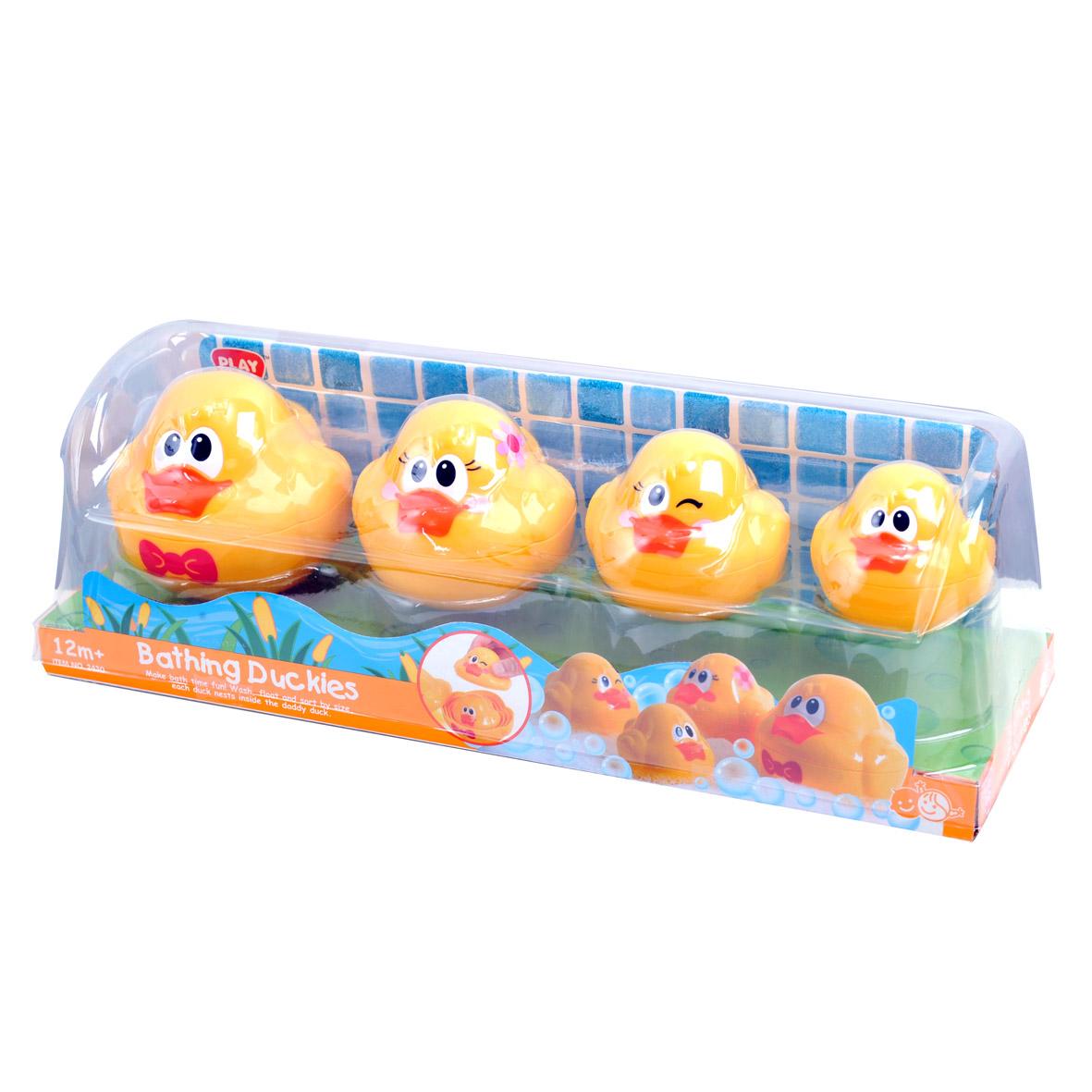 Playgo Игровой набор для ванной УтятаPlay 2430В комплект входят 4 утенка, которые складываются один в другого по принципу матрёшки.