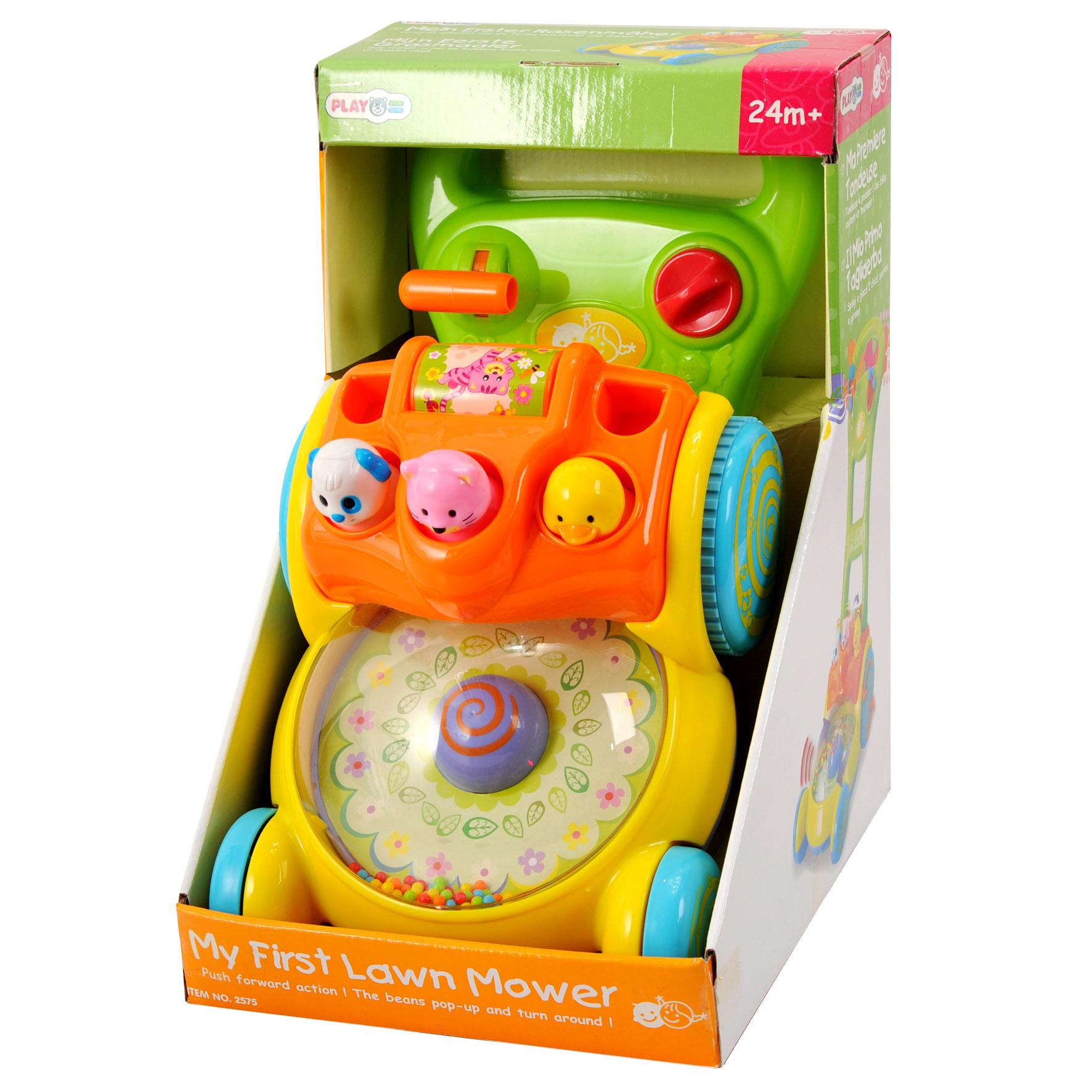 Playgo Каталка Забавная газонокосилкаPlay 2575Каталка в форме газонокосилки может использоваться как ходунки для малыша, совершающего первые самостоятельные шаги.