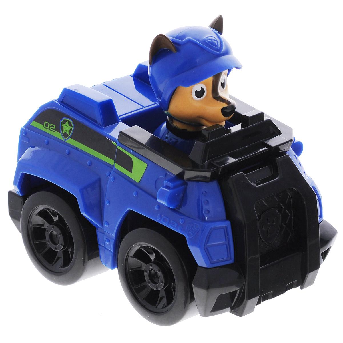Игрушка Щенячий патруль Машинка спасателя. Chase16605 Chase Police CruiserИгрушка Щенячий патруль Машинка спасателя. Chase выполнена из прочного пластика в виде полицейской машины, которой управляет собачка Чейз - персонаж мультсериала Paw Patrol (Собачий патруль). Фигурка собачки не снимается с игрушки. Благодаря подвижным колесикам ребенок сможет катать машинку.