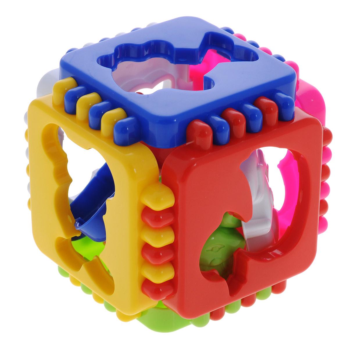 Развивающая игра-сортер Stellar Логический кубик. Веселые зверята01326Развивающая игра-сортер Stellar Логический кубик Веселые зверята обязательно понравится вашему малышу и доставит ему много удовольствия от часов, посвященных игре с ней. Игрушка выполнена из полипропилена в виде разбирающегося кубика с шестью отверстиями для фигурок в виде разных зверят, входящих в комплект. Каждой грани соответствует по форме отверстия определенная фигурка. Задача малыша - правильно подобрать соответствующие элементы. Логические игры вырабатывают умение узнавать и различать форму или изображение предмета, его цвет, развивают творческое и пространственное воображение, абстрактное мышление, а также учат классифицировать, обобщать и сравнивать. Порадуйте малыша такой яркой игрушкой!