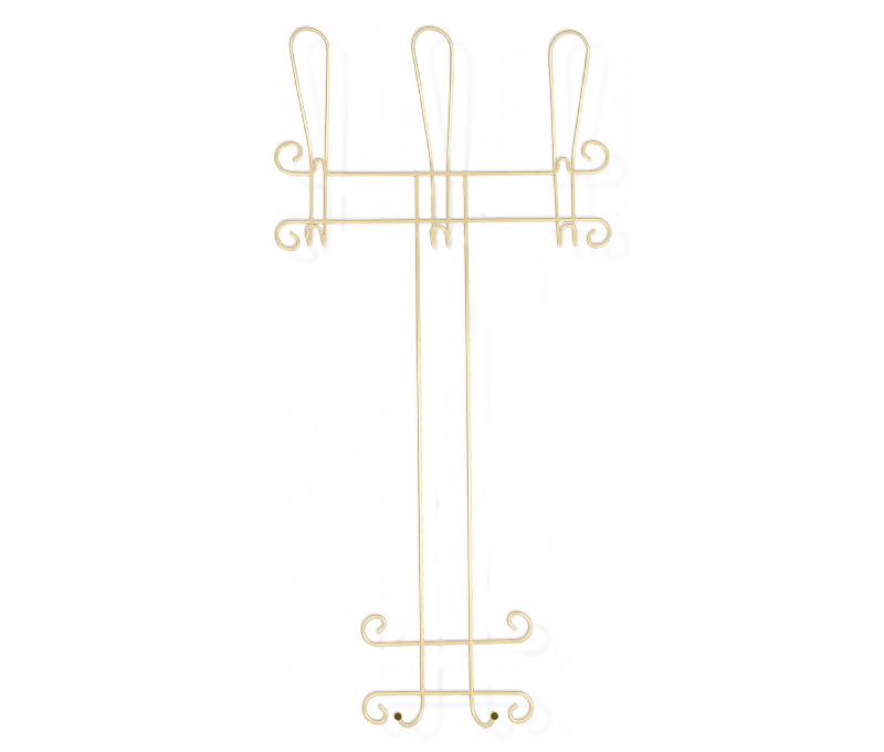 Вешалка настенная Sheffilton Грация 780-2, цвет: ваниль, коричневый, 49 х 10 х 97 смВ2-84-2Настенная вешалка Sheffilton Грация 780-2 - стильное решение для дома и офиса, которое позволит сэкономить пространство. Изделие выполнено из металлических прутков диаметром 5 мм. Порошковая окраска изделия делает его устойчивым к механическим повреждениям. Вешалка имеет выразительный внешний вид в стиле старинных ремесленных изделий. Имеется 3 крючка для верхней одежды, 3 крючка для головных уборов и 2 крючка для сумок и аксессуаров. Такая вешалка стильно дополнит интерьер прихожей и поможет экономично организовать пространство. Расстояние между крючками: 17,8 см. Максимальная нагрузка на крючок: 3,5-5 кг.